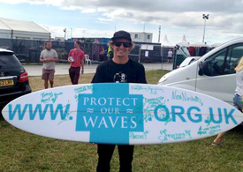 SAS deliver Protect Our Waves petition