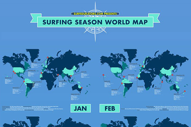 Surf Season map